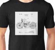 Harley Davidson Motorcycle 1928 Patent Drawing  Unisex T-Shirt