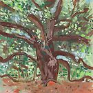 """Study for """"The Worship of the Oak"""" by John Douglas"""