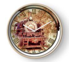 059 Wall Clock Old Locomotive with Smoke Clock