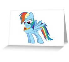 Rainbow Dash - Element of Loyalty Greeting Card