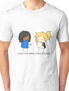 Justice Rains down with love.  Unisex T-Shirt
