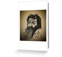 Charles Manson ink drawing Greeting Card