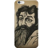Charles Manson ink drawing iPhone Case/Skin