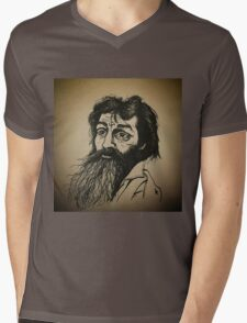 Charles Manson ink drawing Mens V-Neck T-Shirt