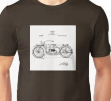 Harley Davidson Motorcycle 1919 Patent Drawing Unisex T-Shirt