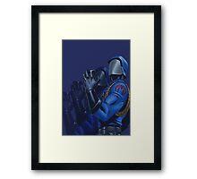 Cobra commander Framed Print