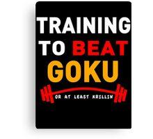Training to beat goku - at least krillin  Canvas Print