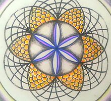 Sacred Geometry Mandala - Silver Queen by AshleyPaynter
