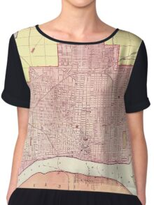 Map Of Detroit 1898 Chiffon Top
