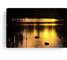 At Days End ... Canvas Print