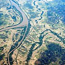 Aerial view of the rivers of the Irrawaddy Delta by stuwdamdorp