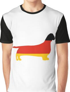 dachshund flag silhouette Graphic T-Shirt