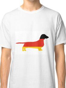dachshund flag silhouette Classic T-Shirt