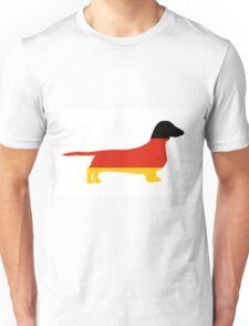 dachshund flag silhouette Unisex T-Shirt