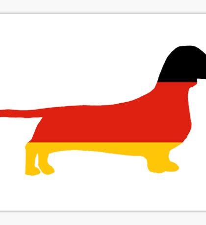 dachshund flag silhouette Sticker