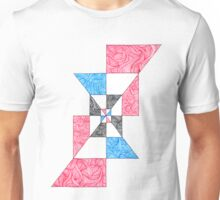 Abstract Angular Checkered Zen Doodle Unisex T-Shirt