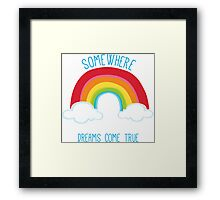 SOMEWHERE OVER THE RAINBOW art bright colourful Framed Print