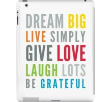 LIFE MANTRA positive cool typography bright colors iPad Case/Skin