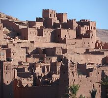 Morocco, a very old Sahara Desert Village Scene by Richard Ingelido