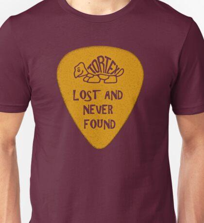 Lost Guitar Pick Mustard Unisex T-Shirt