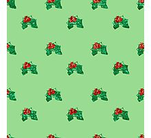 sequin christmas Holly Photographic Print