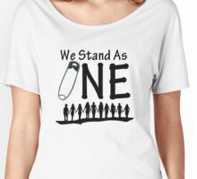 We Stand As One - #safetypin for #solidarity Women's Relaxed Fit T-Shirt