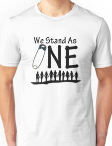 We Stand As One - #safetypin for #solidarity Unisex T-Shirt