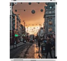 Oxford Street At Twilight With Christmas Lights Greeting Card iPad Case/Skin