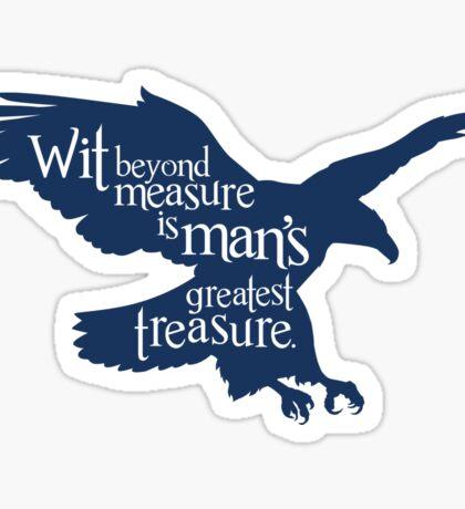 Wit Beyond Measure is Man's Greatest Treasure Sticker