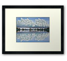 Clouds Reflection Framed Print