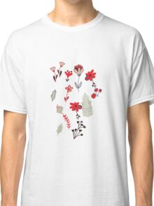 Red Vintage Floral Pattern Classic T-Shirt