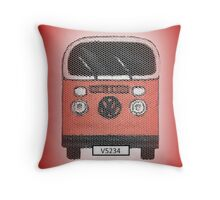 Red Volks Throw Pillow
