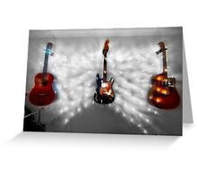 Christmas Guitars Greeting Card Greeting Card