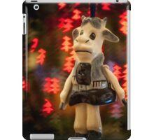 Christmas Cow Greeting Card iPad Case/Skin