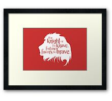 For Knight Or For Knave, Fortune Favors The Brave Framed Print
