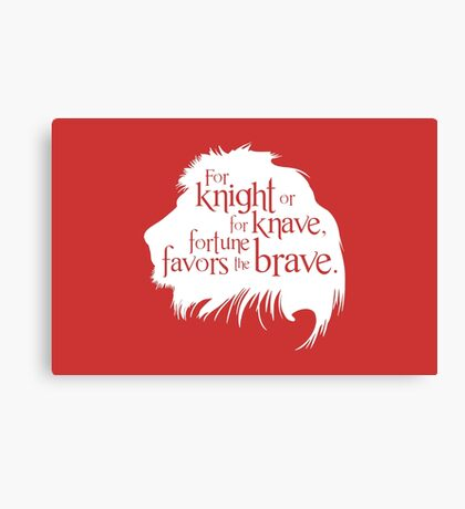 For Knight Or For Knave, Fortune Favors The Brave Canvas Print