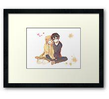 Kirito and Asuna Framed Print