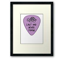 Lost Guitar Pick Purple Framed Print