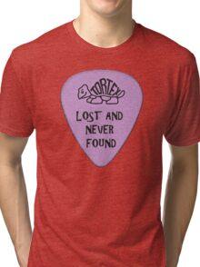 Lost Guitar Pick Purple Tri-blend T-Shirt