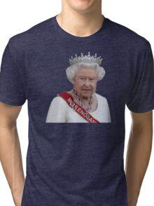 Queen Elizabeth II - Miss England Tri-blend T-Shirt