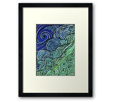 Wind & Water in Blue Framed Print
