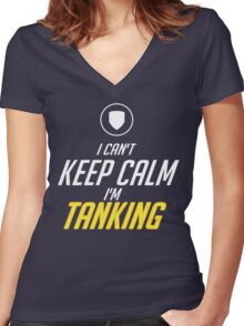 TANK Women's Fitted V-Neck T-Shirt