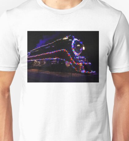 SP 4449 Steam Train With Christmas Lights Unisex T-Shirt