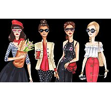 Sunglasses girls, fashion illustrations Photographic Print
