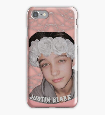 Justin Drew Blake Flower Crown iPhone Case/Skin