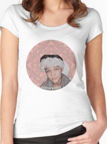 Justin Drew Blake Flower Crown Women's Fitted Scoop T-Shirt
