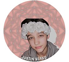 Justin Drew Blake Flower Crown Photographic Print