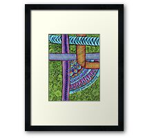 Zendoodle in Purple & Green Framed Print