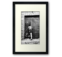 retro photo woman Framed Print
