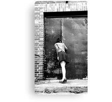retro photo woman Canvas Print